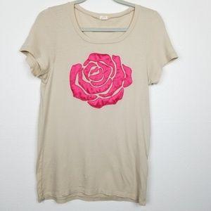 J.Crew Factory | satin rose| t-shirt